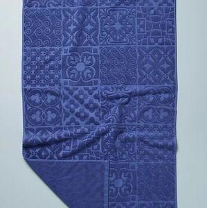 NWT Set/2 Anthro Mack Bath Towels Blue
